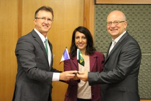 Representantes do consulado foram recebidos na sede da reitoria do IFMS - Foto: Ascom/IFMS